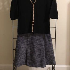 J-Crew Tweed Mini Skirt, Size 4P
